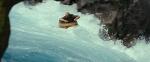 Dwalin in barrel running the rapids
