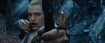 Legolas aiming at Thorin in Mirkwood