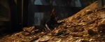Bilbo sliding down Erebor gold pile