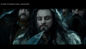 12-THDoS-SneakPeak-Thorin-at-blade-point-Nov0413GratianaLovelaceCap
