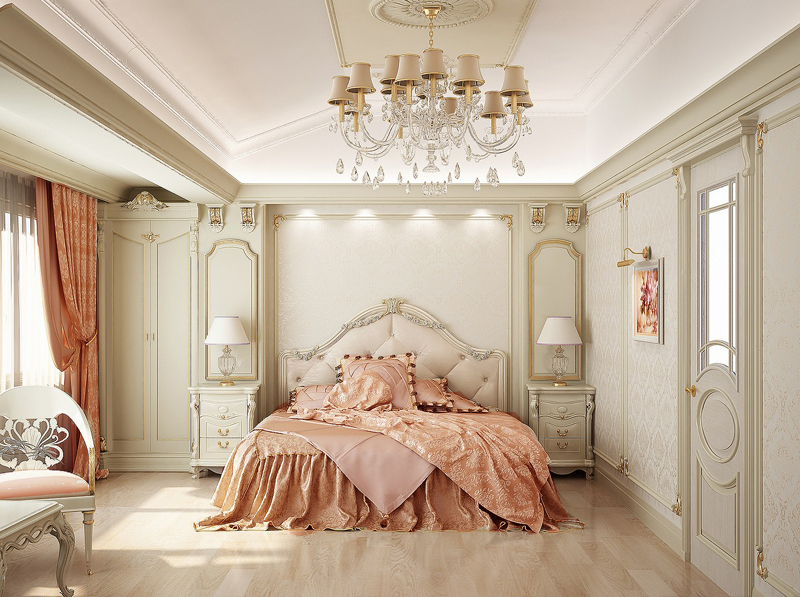 Traditional French Style Bedroom 1 May2414Home Designingcom Sized Coloredpink
