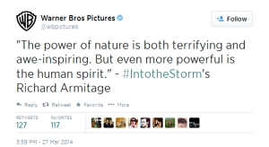RichardArmitage-CinemaCon2014-QuoteaboutHumanSpirit_Jun1514WarnerBrosPictures