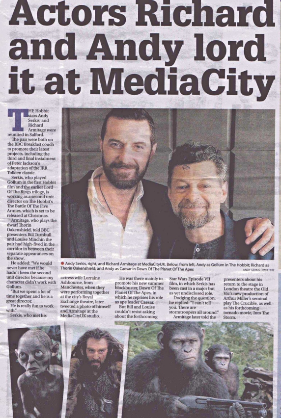 ManchesterEveningNews-print-Armitage-andSerkis_14Jul14ranet-sized
