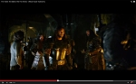 Dwarves marching to battle--with Thorin and Bilbo watching stoically