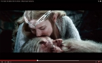 Galadriel saying farewell to Gandalf