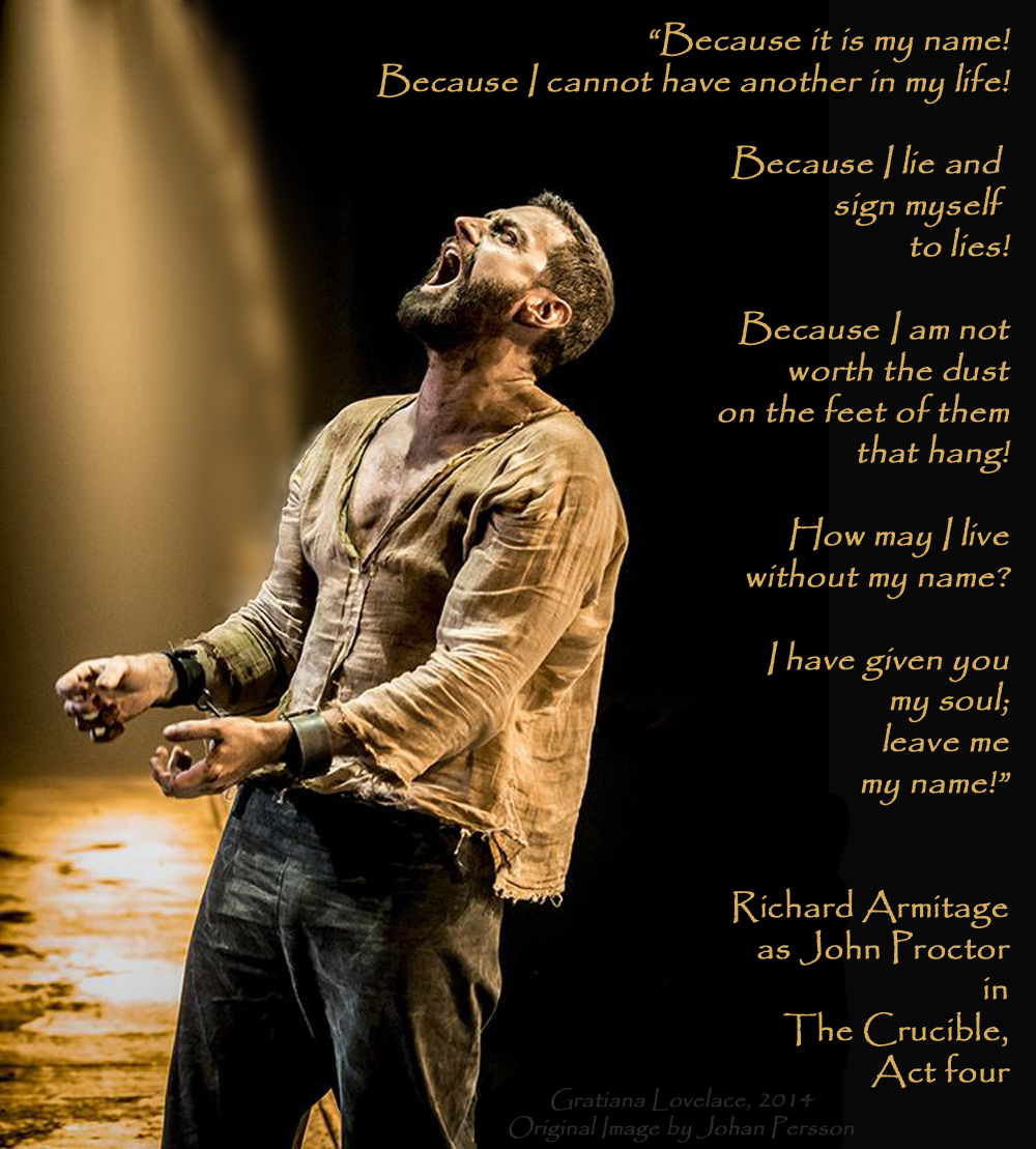 thespian thursday forever love john proctor s loving final kisses thecrucible richardarmitageasjohnproctorcryingout aug0614byjohanpersson viaenikonitweet glmask sized enl quote2