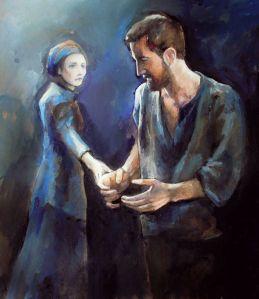 TheCrucible--ElizabethandJohn-fan-art-byCro-gall-on-tumblr_Mar1615viaIsabelle