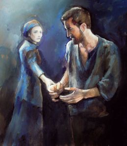 TheCrucible--ElizabethandJohn-fan-art-byCro-gall-on-tumblr_Mar1615viaIsabelle