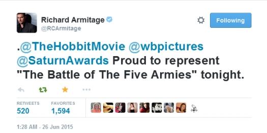 RichardArmitage-tweet-saying-he-is-proud-to-represent-BattleoftheFiveArmies_Jun2515grati