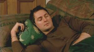 2003--BTS-RichardArmitage-asPaul-sleepingoncouch_Jul2615viaRAFrance