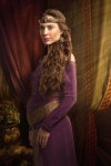 LadyConstantia-isClaireForlani-in-Camelot-purple-gown-profile-long_Nov2215meatgrinder-GratianaL-sized-brt-babybumpmanip