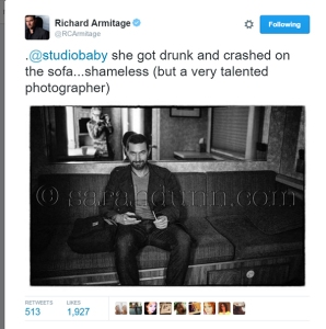RAPortrait--2015Aug20--RichardArmitageFunTweet-aboutSarahDunn_Feb2816RCAtweet-crop