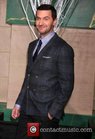 "2014 blue plaid premiere suit for ""The Hobbit"""