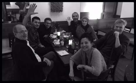 "2016 BW of having a meal with ""Berlin Station"" colleagues"