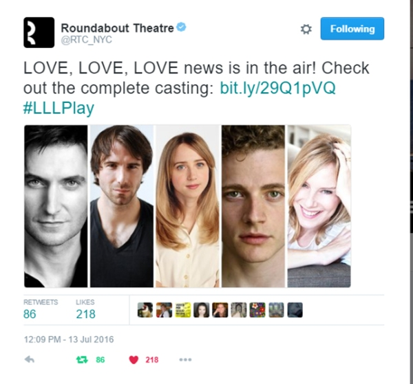 RoundaboutTheatre-makes-LoveLoveLove-announcement_Jul1316RATtweet