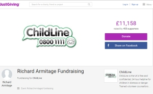 JustGiving--RichardArmitage-page-forChildLine_Aug0916grati-cap
