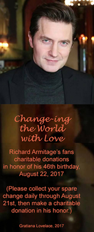 Richard Armitage 2016 Jane Hotel Photoshoot; sidebar wallpaper for Change for Charity 2017 in honor of his 46th birthday