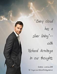 """A 2012 Richard Armitage portrait in my wallpaper """"Every cloud has a silver lining--with Richard Armitage in our thoughts."""""""